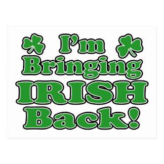 bringing irish back Postcard