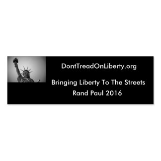 Bringing Liberty To The Streets Business Card Template