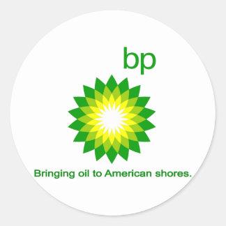 Bringing Oil To American Shores Classic Round Sticker