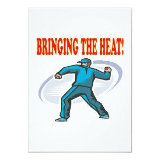 Bringing The Heat 5x7 Paper Invitation Card