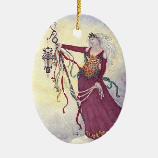 Bringing Yuletide Magic Ornament by Mary Layton