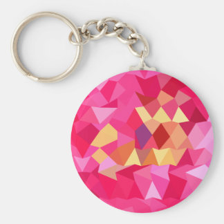 Brink Pink Abstract Low Polygon Background Keychain