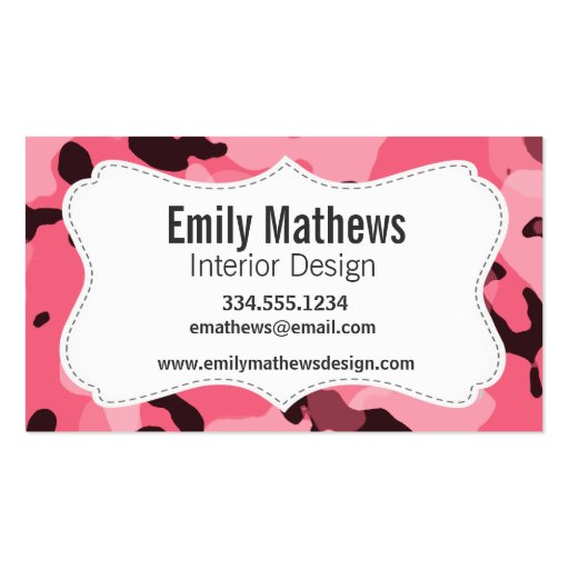 Camo business card templates page3 bizcardstudio brink pink camo camouflage business card template colourmoves