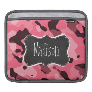 Brink Pink Camo; Camouflage; Retro Chalkboard iPad Sleeve
