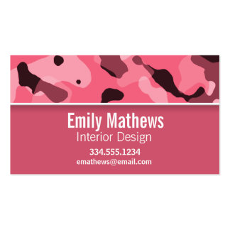 Brink Pink Camo; Personalized Business Card