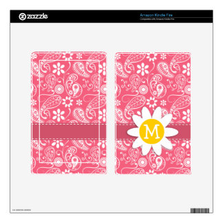 Brink Pink Paisley Cute Daisy Skins For Kindle Fire