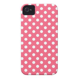 Brink Pink Polka Dot Iphone 4/4S Case iPhone 4 Case-Mate Case