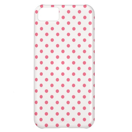 Brink Pink Polka Dots Cover For iPhone 5C
