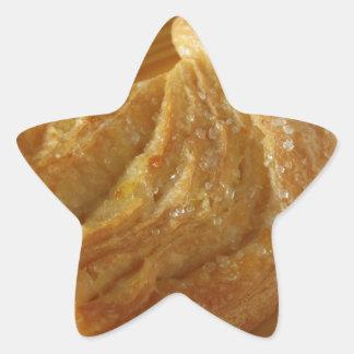 Brioche on a wooden table star sticker