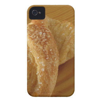 Brioche on a wooden table with granulated sugar Case-Mate iPhone 4 case