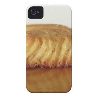 Brioche on a wooden table with granulated sugar iPhone 4 cover