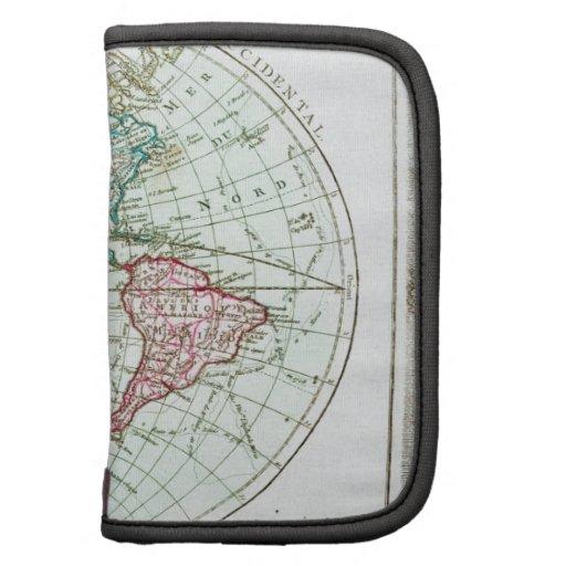 Brión 1764 de la Tour Map del Hemispher occidental Organizadores