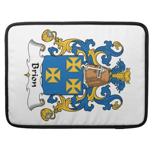 Brion Family Crest Sleeves For MacBook Pro