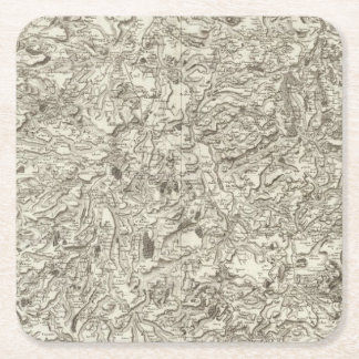 Brioude, Issoire Square Paper Coaster