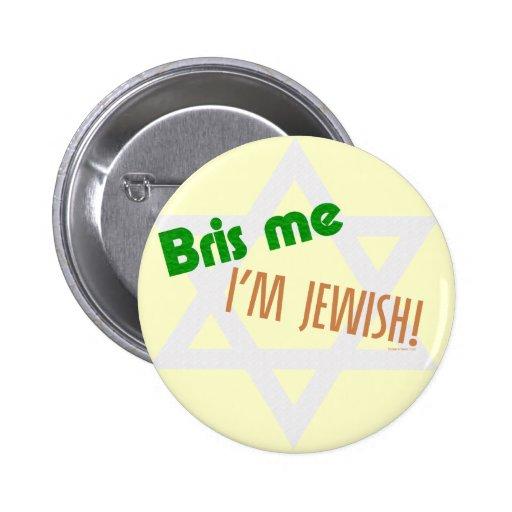 Bris yo soy botón judío pins