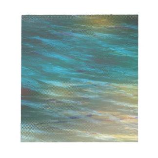 Brisa cambiante del océano bloc de notas