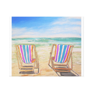 Brisa de la playa impresiones en lona