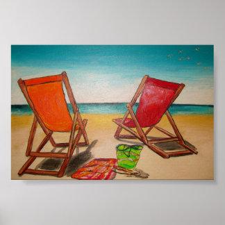 Brisa de la playa póster