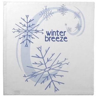 Brisa del invierno servilleta imprimida
