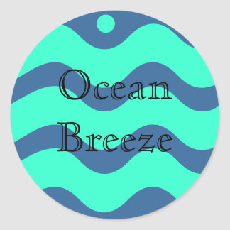 Brisa del océano pegatina redonda