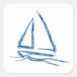 Brisa del velero… calcomanía cuadradas personalizadas