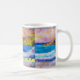 Brisa fresca de la playa taza de café