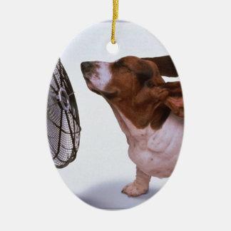 Brisa - perro y fan ornamente de reyes