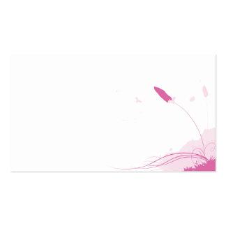 Brisa rosada del verano tarjeta de negocio