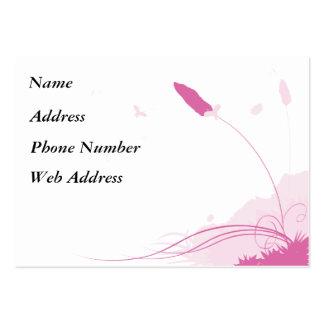 Brisa rosada del verano tarjetas de visita