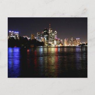 Brisbane at Night Postcard postcard