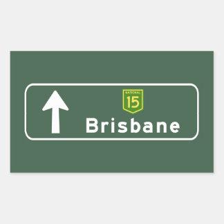 Brisbane, Australia Road Sign Rectangular Sticker