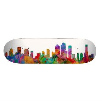 Brisbane Australia Skyline Skateboard