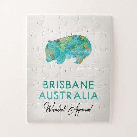 Brisbane Australia Wombat Jigsaw Puzzle