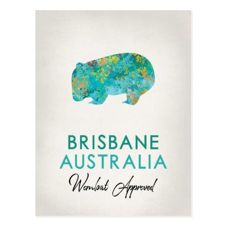 Brisbane Australia Wombat Postcard