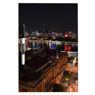 BRISBANE CITY AT NIGHT QUEENSLAND AUSTRALIA DRY ERASE BOARD