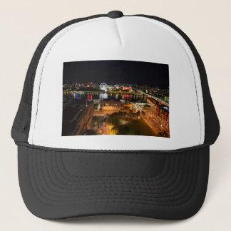 BRISBANE CITY AT NIGHT QUEENSLAND AUSTRALIA TRUCKER HAT