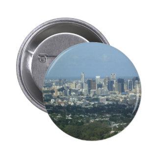 Brisbane City Pinback Button