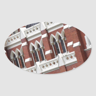 BRISBANE CITY CHURCH QUEENSLAND AUSTRALIA OVAL STICKER