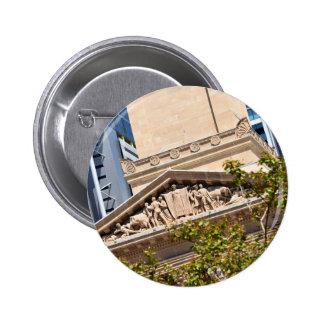 BRISBANE CITY HALL QUEENSLAND AUSTRALIA PINBACK BUTTON