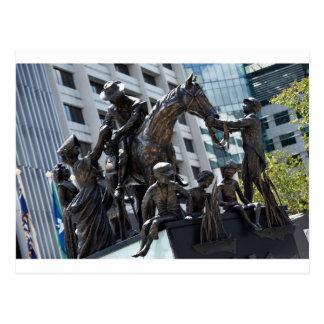 BRISBANE CITY KING GEORGE SQUARE AUSTRALIA POSTCARD
