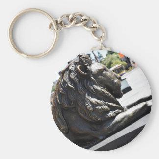 BRISBANE CITY LION KING GEORGE SQUARE AUSTRALIA BASIC ROUND BUTTON KEYCHAIN