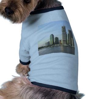 Brisbane city skyline doggie tee shirt