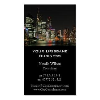 Brisbane City Skyline in Color - Business Card