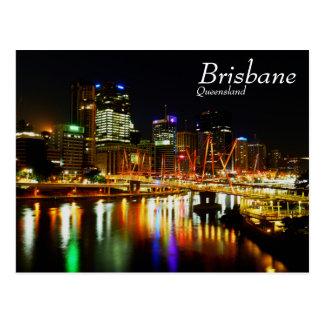 Brisbane en la noche 1 postal