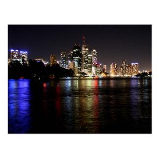 Brisbane en la postal de la noche