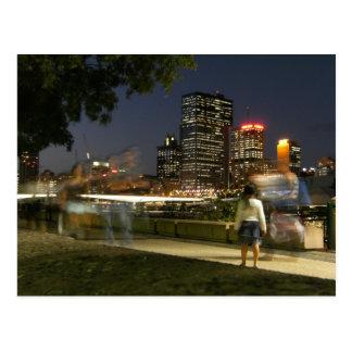 Brisbane from South Bank, Australia. Postcard