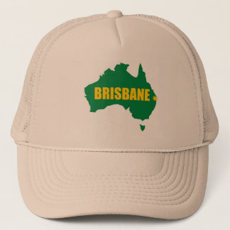Brisbane Green and Gold Map T-Shirt Cap