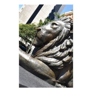 BRISBANE LION STATUE QUEENSLAND AUSTRALIA STATIONERY