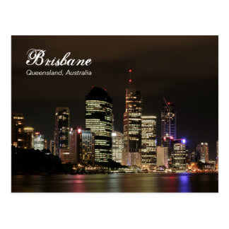 Brisbane por noche tarjetas postales
