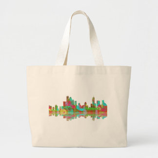 Brisbane Qld Skyline Large Tote Bag